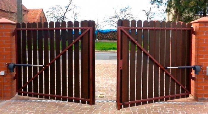 Автоматические распашные ворота в Москве купить