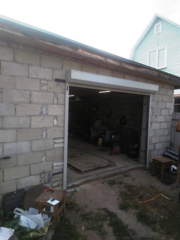 Установка гаражных рольставен