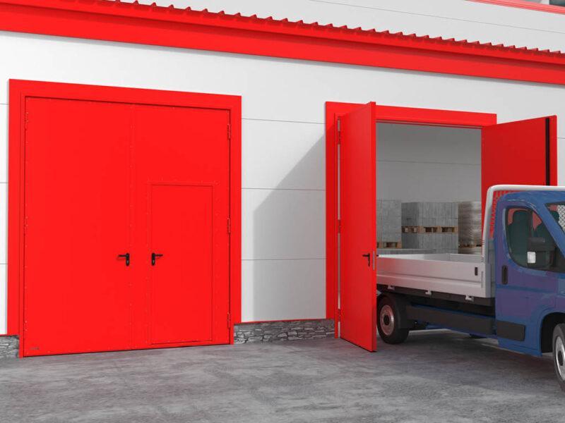 Применение распашных гаражных ворот дорхан