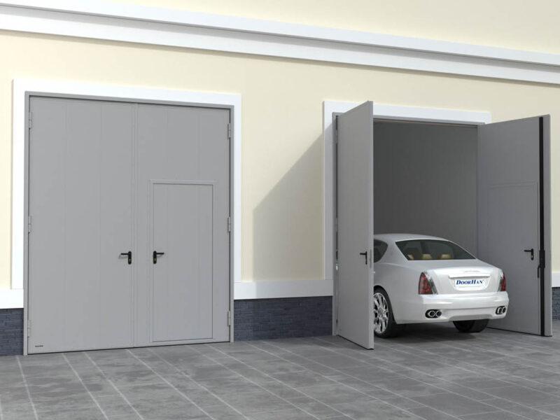 Использование распашных гаражных ворот дорхан
