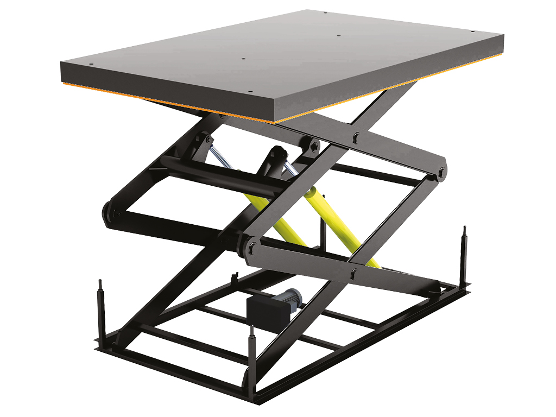 Подъемный стол с двумя парами ножниц купить