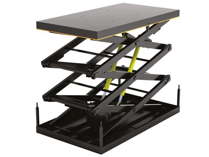 Подъемный стол с тремя парами ножниц купить