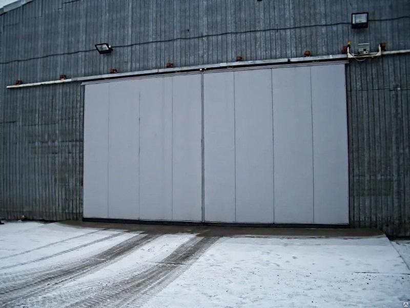 Монтаж промышленных откатных ворот