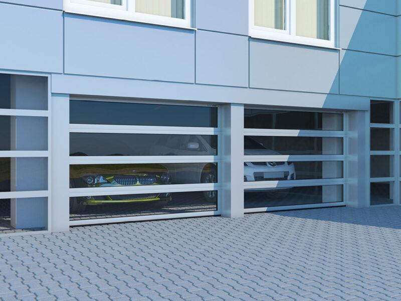Секционные панорамные ворота DoorHan в Москве и области купить