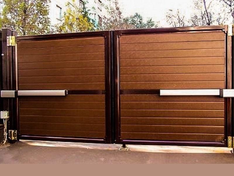 Автоматические распашные ворота установка в Москве и области