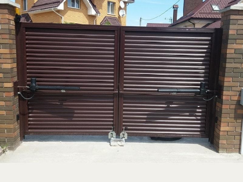 Автоматические распашные ворота с приводом купить Москва